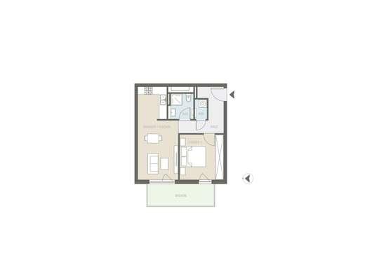 Tolle 2-Zimmer Neubauwohnung inkl. TG-Stellplatz