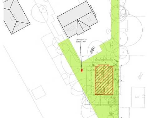 Grundstück mit Baugenehmigung für EFH in grüner, ruhiger Lage Obermenzing