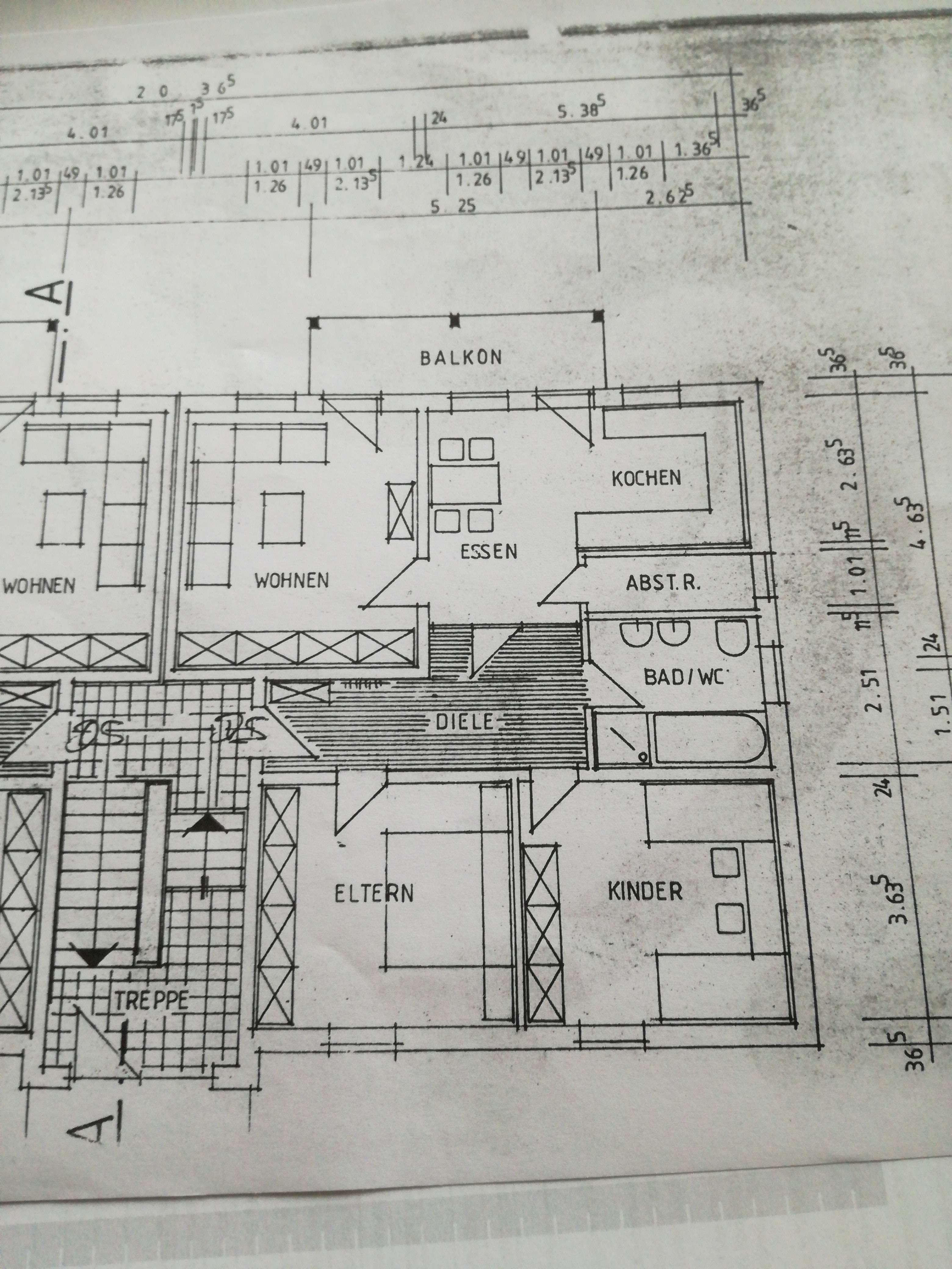 Preiswerte, gepflegte 3-Zimmer-Wohnung mit Balkon in Geigant in Waldmünchen