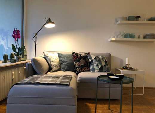 Erstbezug nach Sanierung: exklusive 1-Zimmer-Wohnung MÖBLIERT mit Einbauküche und Balkon in Mainz