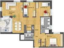Herrliche 4-Zimmer-Wohnung mit Loggia im
