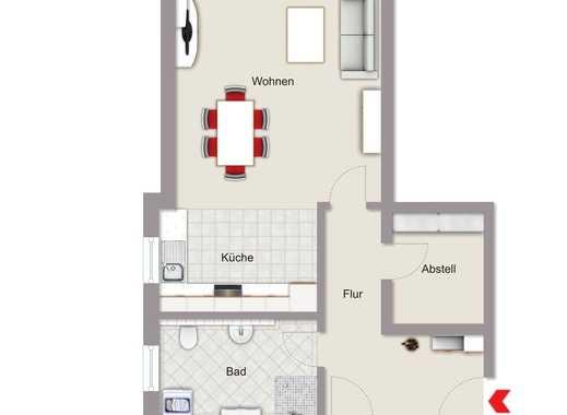 Erstbezug: freundliche 3-Zimmer-Wohnung, Erdgeschoss mit Terrasse in Erbach