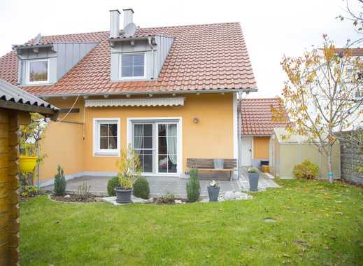 Hochwertig ausgestattete Doppelhaushälfte mit Garten und Garage in Manching