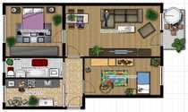 Schöne Wohnung in der 4
