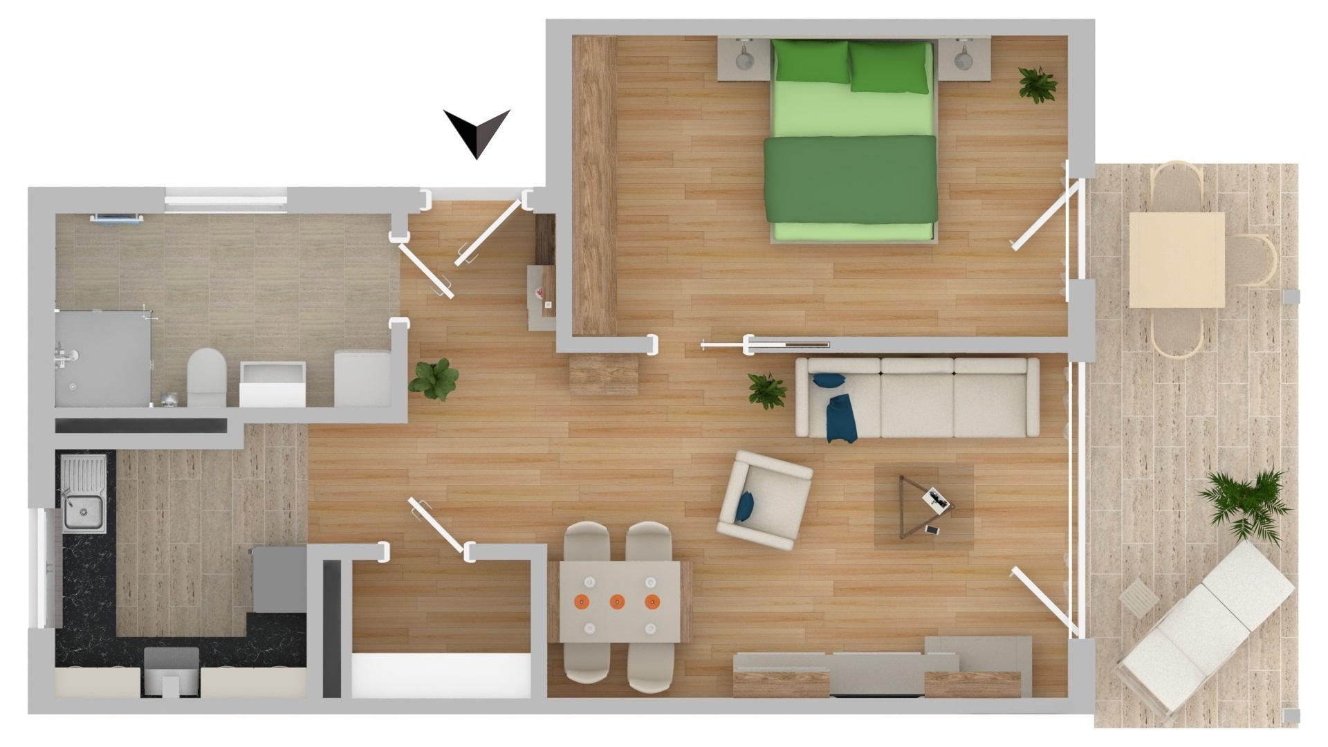 NEUBAU!!!! Betreutes Wohnen 2-Zimmer mit Terrasse (D11)