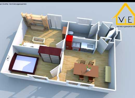 Klasse Grundriss mit großer Wohnküche und Badezimmer mit Fenster!