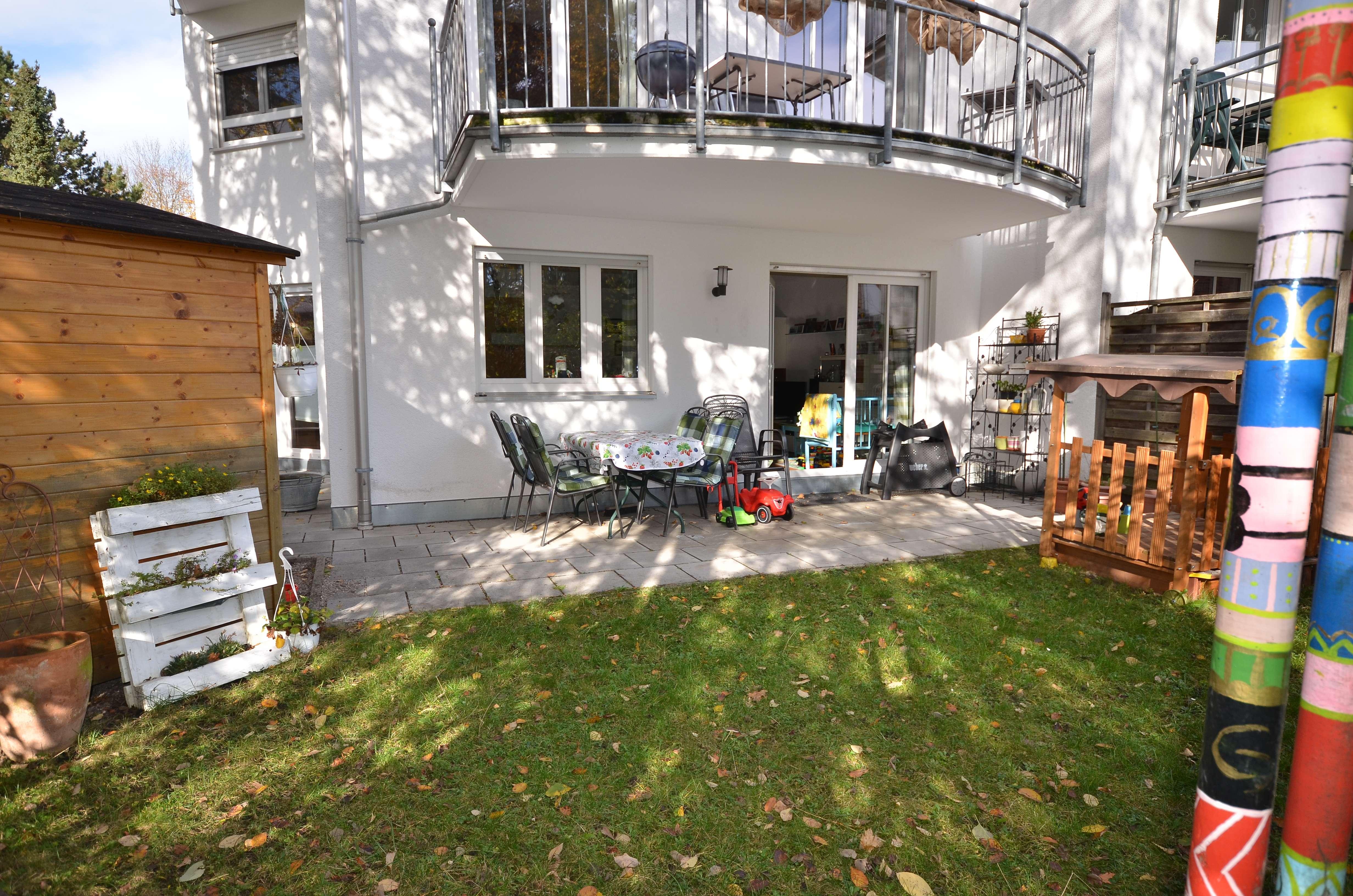 Familienfreundliche 3-Zimmer-Wohnung mit Garten in Moosach in Moosach