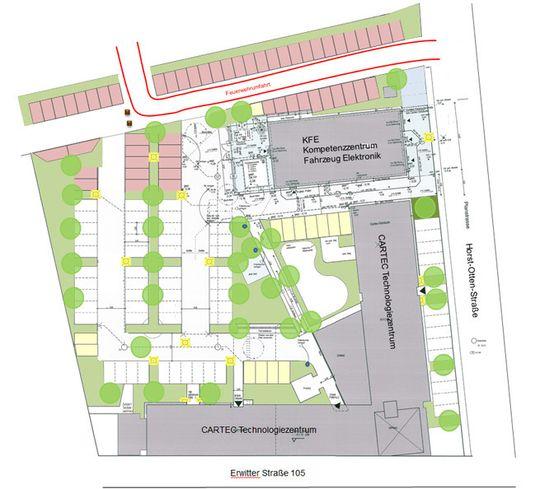 CARTEC Grundriss Außenanlagen