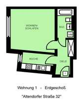 Schicke Singlewohnung in Schloßchemnitz 1