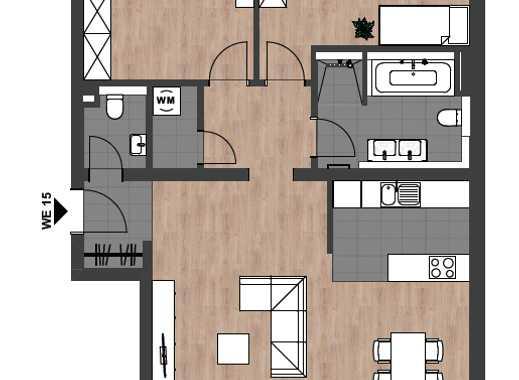Neubau: Großzügige 3-Zimmer-Wohnung mit Süd-West Balkon in City-Lage Neu-Ulm
