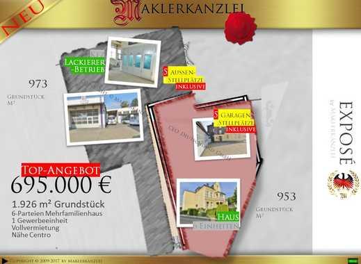 +++ NEU +++ 1926m² Grundstück in Zentrum von Oberhausen (nähe Centro); bebaut, voll vermietet