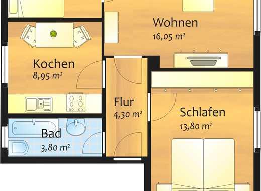 Kleine aber feine 3-Zimmer-Wohnung in grüner Lage