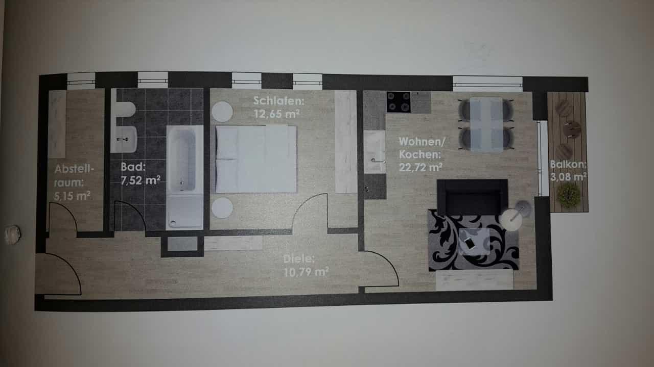 Neuwertige 2-Zimmer-Wohnung mit Balkon und EBK in Vohburg an der Donau in