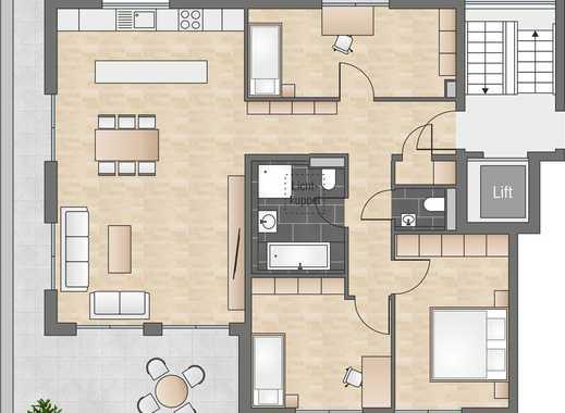 Außergewöhnliche Penthousewohnung mit großzügigem Wohnbereich und umlaufender Dachterrasse