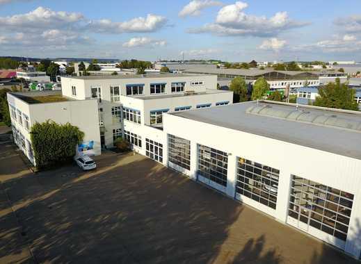 Gewebegebiet Neu-Ulm, großzügiges Bürogebäude mit großer Werkstatt und Lagerfläche
