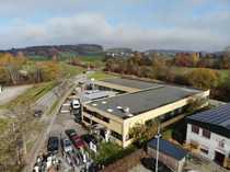 Industriehalle Produktion Halle mit Bürogebäude