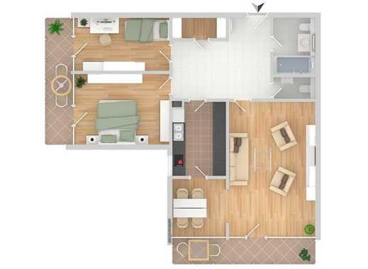 sonnige, gut geschnittene 3,5 Zimmer Wohnung