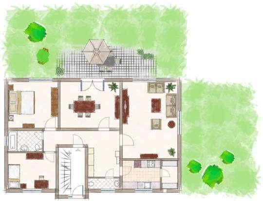Niveauvolle 4-Zimmer EG-Wohnung mit kleinem Garten in Obermenzing/Pasing in Obermenzing (München)