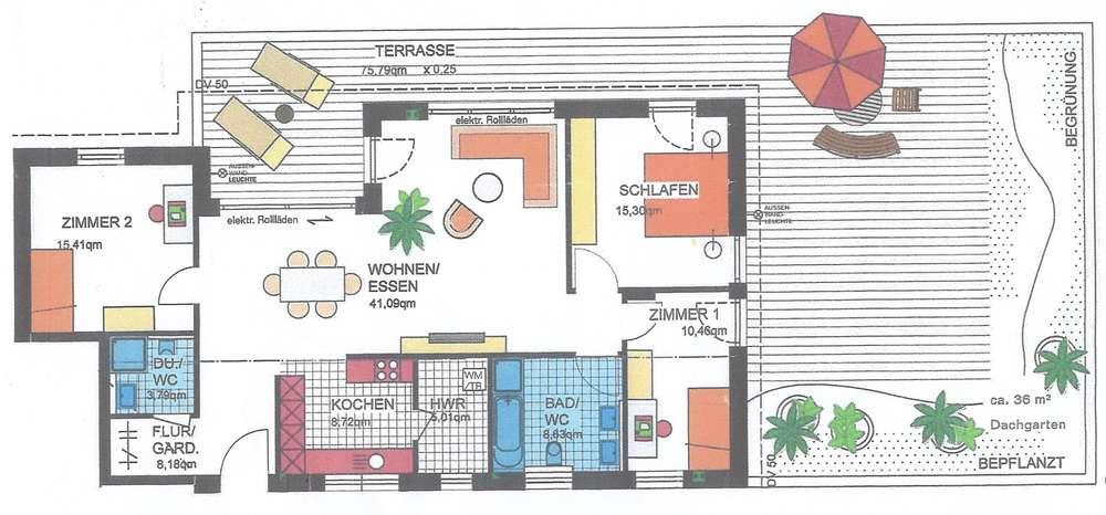 Schöne Penthouse-Wohnung