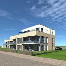 Neubau-Penthouse mit Meerblick in erster