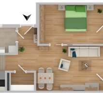 NEUBAU!!!! Betreutes Wohnen 2-Zimmer mit Terrasse (B05)