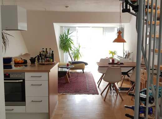 Freundliche 3-Zimmer-Maisonette-Wohnung mit Balkon und EBK in Mainz