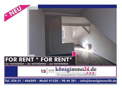 Erstbezug nach Sanierung!! TOP 3-ZKB Dachgeschosswohnung in innenstadtnaher Lage in Mühlhausen