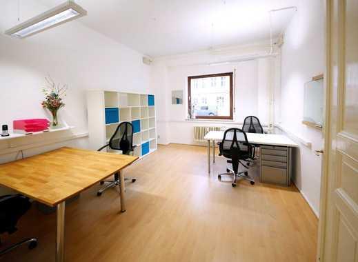 Bürozimmer für 2-4 Arbeitsplätze in 66 m²-Altbau-Bürowohnung (möbliert) für 580,- (all incl)