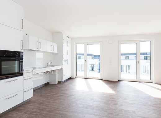 Rollstuhlgerechte 2-Zi.-Wohnung auf ca. 96 m² mit offener Küche & zwei wunderschönen Balkonen