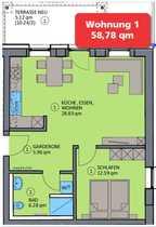 2-Zimmer-Erdgeschosswohnung in Essing
