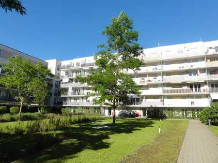Hirschgarten: Schöne 4-Zimmer-EG-Wohnung mit großer West-Terrasse zum Innenhof und TG-Stellplatz in Nymphenburg (München)