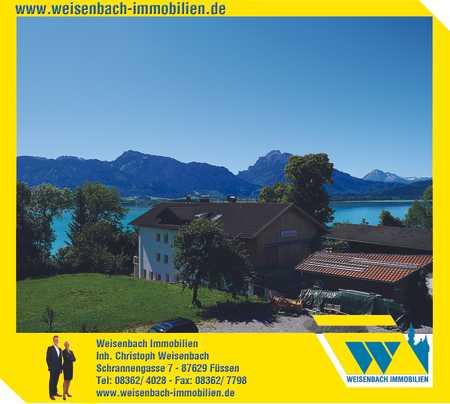 Neuwertige 4-Zimmer-Wohnung in einmaliger Traumlage mit Berg-, See- und Schlossblick in Rieden am Forggensee