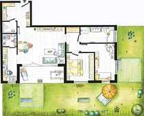 Garten-Wohnung - 3,