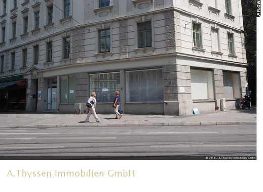 Bestlage Haidhausen - Ladenfläche im neubarocken Eckbau aus 1896 - 14 Meter Schaufensterfront