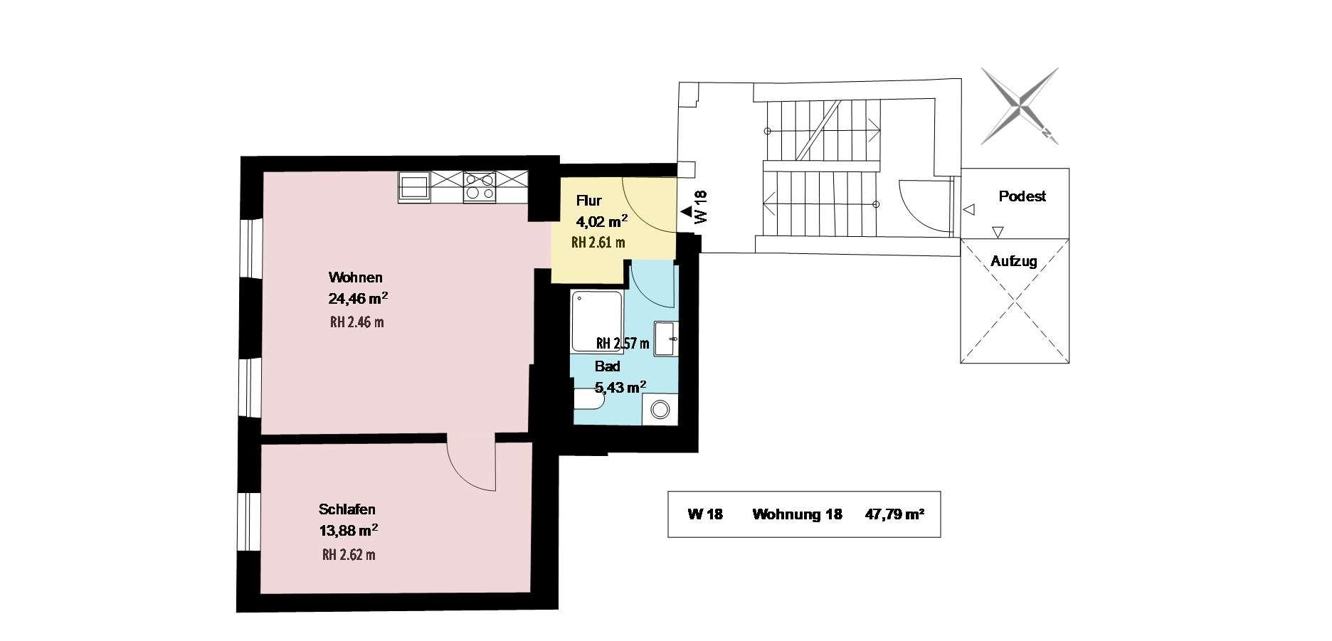 *1 Zimmer mit Wohnküche im trendigen Schlachthofviertel*möbliert*EBK*Keller* in