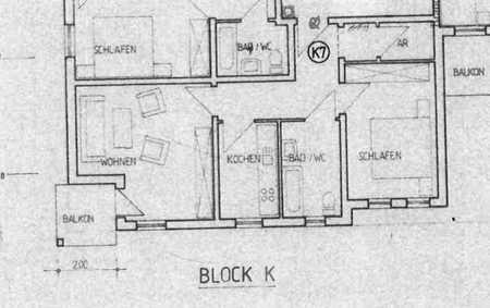 Attraktive Seniorenwohnung 2-Raum-Wohnung mit EBK und Balkon in Roth in Roth (Roth)