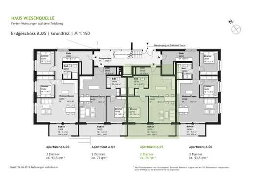 A.05 - 2 Zimmerwohnung im Erdgeschoss mit SW-Ausrichtung - HAUS WIESENQUELLE Feldberg