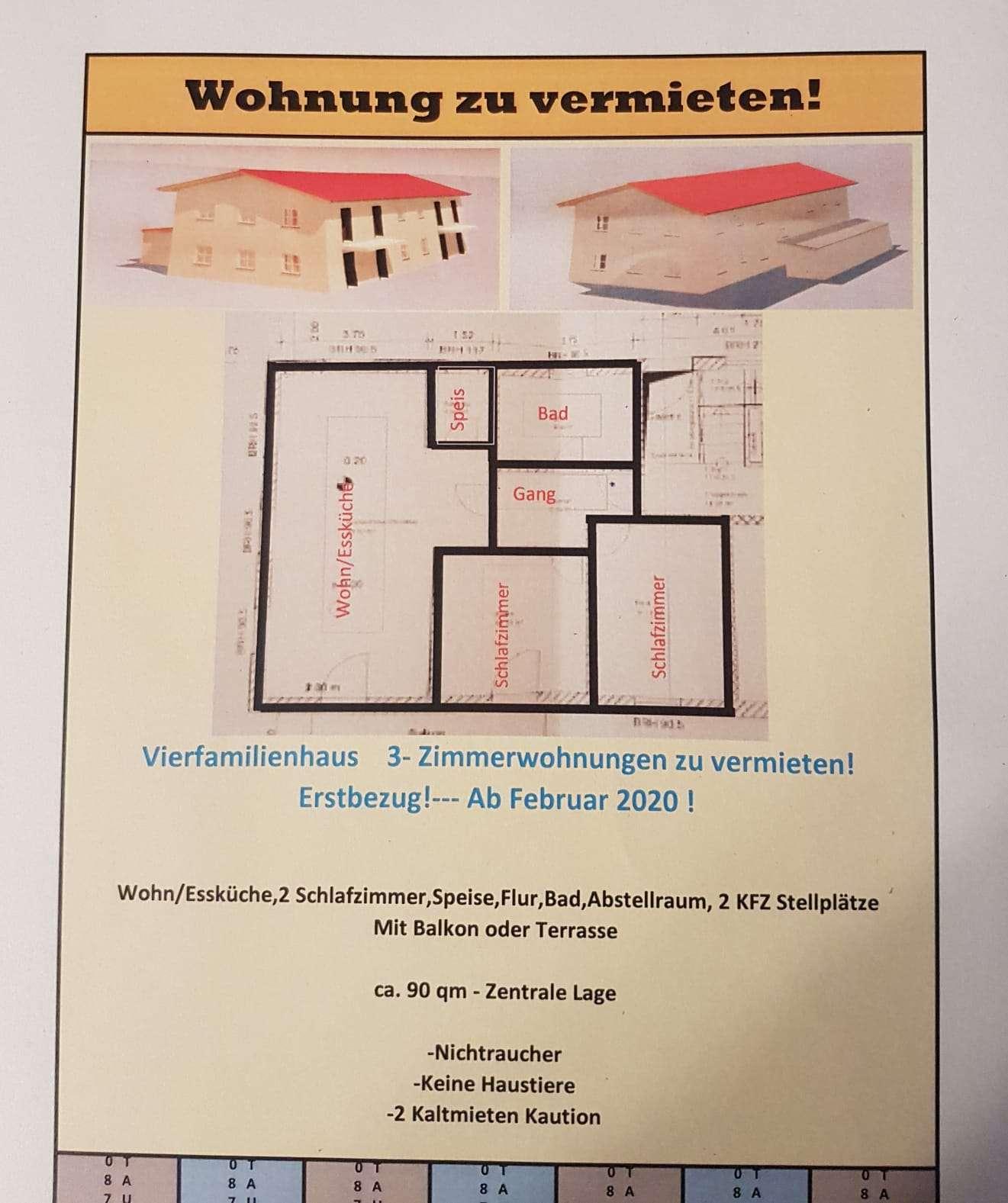 Erstbezug mit Balkon: schöne 3-Zimmer-Wohnung in Buch am Erlbach in Buch am Erlbach