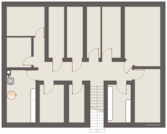 Kellergrundriss des Gebäudes