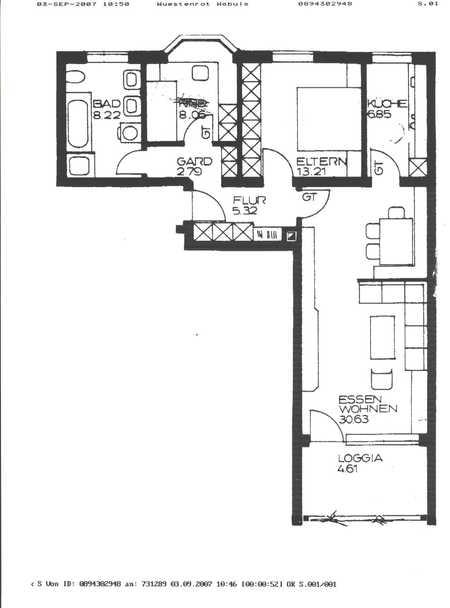 Gepflegte Wohnung mit drei Zimmern sowie Balkon  in Neuötting in Neuötting