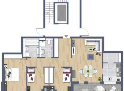 Neue 4-Zimmer-Wohnung mit Parkett, Balkon und Einbauküche in Ossendorf, Köln