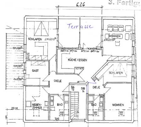 Exklusive, gepflegte 6-Zimmer-Wohnung mit Balkon WG geeignet in Regensburg in Westenviertel (Regensburg)