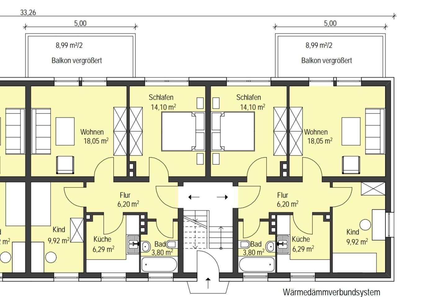 5 neu sanierte Wohnungen mit 61 m² und sehr großem Balkon zur Südseite in Coburg-Zentrum (Coburg)