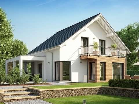 EVOLUTION 143 V14 – Modernes Einfamilienhaus mit Erker, Balkon und ...
