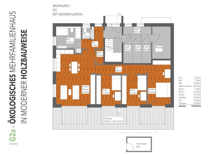 4 ZKB Neubau Gartenwohnung in Gablingen zu vermieten in Gablingen