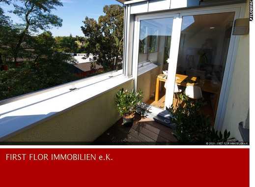 Traumhafte Dachgeschosswohnung in Rheinnähe mit Galerie, Terrasse, Einbauküche und Stellplatz !!!