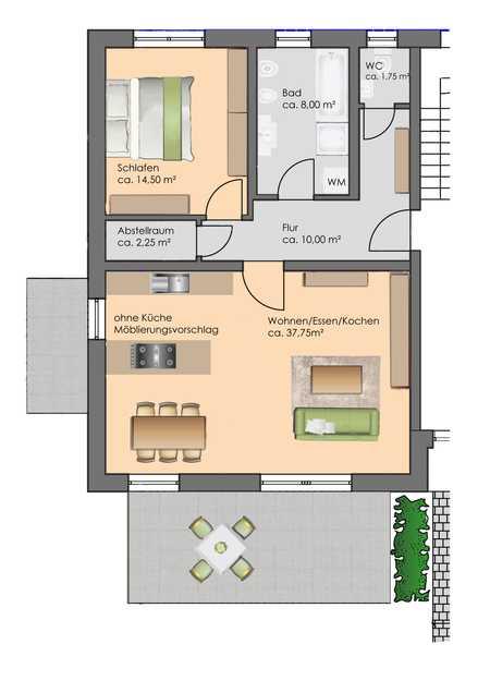 Erstbezug: stilvolle 2-Zimmer-Wohnung in Passau in Haidenhof Süd (Passau)