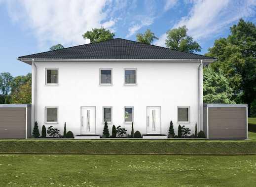 Wunderschön - MASSIVgebaut und energiesparsame Doppelhaushälfte mit Grundstück