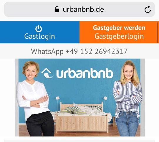 whatsapp urbanbnb