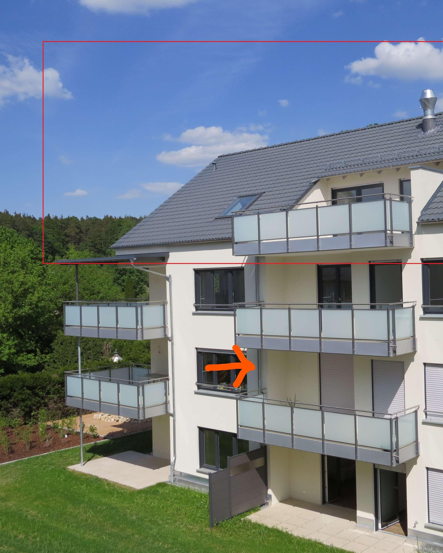 2-Zimmer-Whg. Erstbezug, wunderschön und hell - mit großem Balkon in